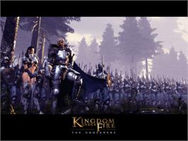 Title screen of Kingdom Under Fire: The Crusaders on the Microsoft Xbox.