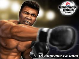 Title screen of Knockout Kings 2002 on the Microsoft Xbox.
