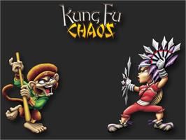 Title screen of Kung Fu Chaos on the Microsoft Xbox.