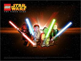Title screen of LEGO Star Wars: The Video Game on the Microsoft Xbox.