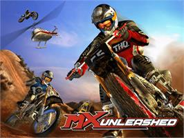 Title screen of MX Unleashed on the Microsoft Xbox.