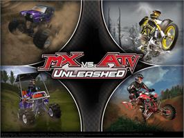 Title screen of MX vs. ATV Unleashed on the Microsoft Xbox.
