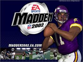 Title screen of Madden NFL 2002 on the Microsoft Xbox.