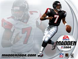 Title screen of Madden NFL 2004 on the Microsoft Xbox.