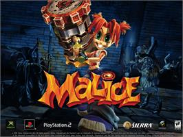 Title screen of Malice on the Microsoft Xbox.