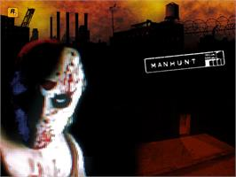 Title screen of Manhunt on the Microsoft Xbox.