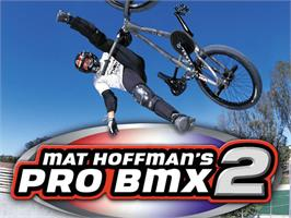 Title screen of Mat Hoffman's Pro BMX 2 on the Microsoft Xbox.