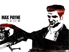 Title screen of Max Payne on the Microsoft Xbox.