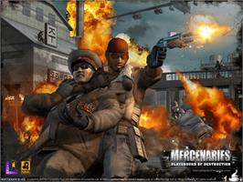Title screen of Mercenaries: Playground of Destruction on the Microsoft Xbox.