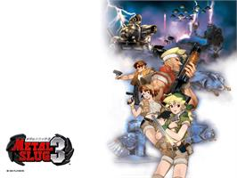 Title screen of Metal Slug 3 on the Microsoft Xbox.