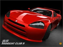 Title screen of Midnight Club 2 on the Microsoft Xbox.