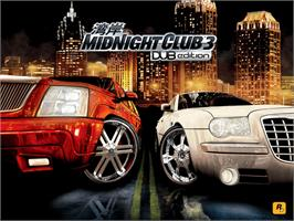 Title screen of Midnight Club 3: DUB Edition Remix on the Microsoft Xbox.