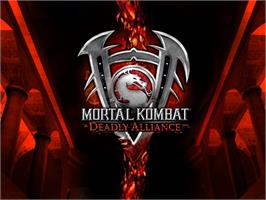 Title screen of Mortal Kombat: Deadly Alliance on the Microsoft Xbox.