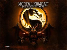 Title screen of Mortal Kombat: Deception on the Microsoft Xbox.