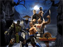 Title screen of Mortal Kombat: Shaolin Monks on the Microsoft Xbox.