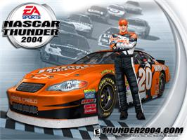 Title screen of NASCAR Thunder 2004 on the Microsoft Xbox.