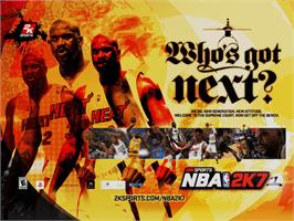 Title screen of NBA 2K7 on the Microsoft Xbox.