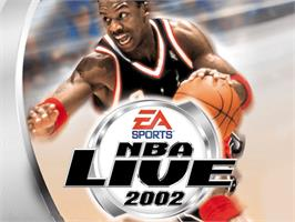 Title screen of NBA Live 2002 on the Microsoft Xbox.