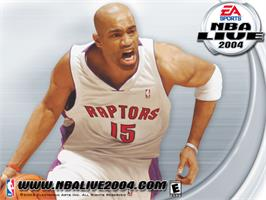 Title screen of NBA Live 2004 on the Microsoft Xbox.