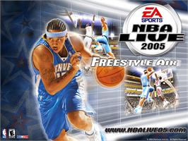 Title screen of NBA Live 2005 on the Microsoft Xbox.