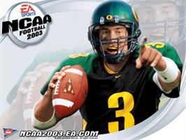 Title screen of NCAA Football 2003 on the Microsoft Xbox.