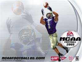 Title screen of NCAA Football 2005 on the Microsoft Xbox.