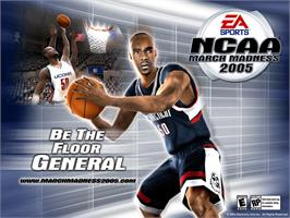 Title screen of NCAA March Madness 2005 on the Microsoft Xbox.