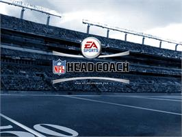 Title screen of NFL Head Coach on the Microsoft Xbox.