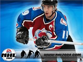 Title screen of NHL 2004 on the Microsoft Xbox.