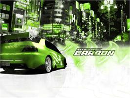 Title screen of Need for Speed: Carbon on the Microsoft Xbox.