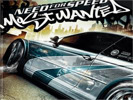 Title screen of Need for Speed: Most Wanted on the Microsoft Xbox.