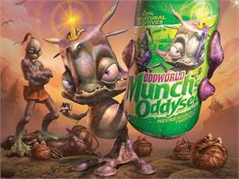 Title screen of Oddworld: Munch's Oddysee on the Microsoft Xbox.
