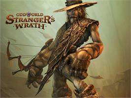 Title screen of Oddworld: Stranger's Wrath on the Microsoft Xbox.
