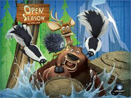 Title screen of Open Season on the Microsoft Xbox.