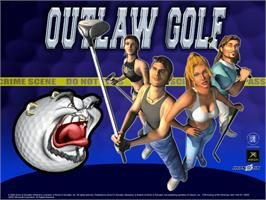Title screen of Outlaw Golf: Holiday Golf on the Microsoft Xbox.