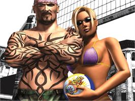 Title screen of Outlaw Volleyball on the Microsoft Xbox.