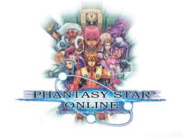 Title screen of Phantasy Star Online Episode I & 2 on the Microsoft Xbox.