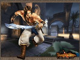 Title screen of Prince of Persia: The Sands of Time on the Microsoft Xbox.