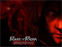 Title screen of Prince of Persia: Warrior Within on the Microsoft Xbox.