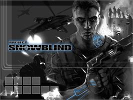 Title screen of Project: Snowblind on the Microsoft Xbox.