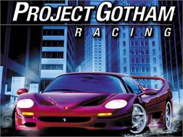 Title screen of Project Gotham Racing on the Microsoft Xbox.