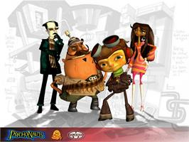 Title screen of Psychonauts on the Microsoft Xbox.