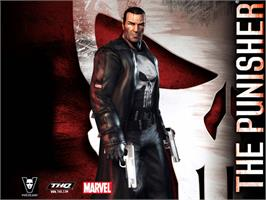 Title screen of Punisher, The on the Microsoft Xbox.