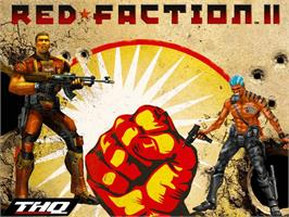 Title screen of Red Faction 2 on the Microsoft Xbox.