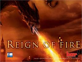 Title screen of Reign of Fire on the Microsoft Xbox.