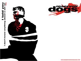 Title screen of Reservoir Dogs on the Microsoft Xbox.
