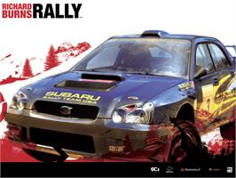 Title screen of Richard Burns Rally on the Microsoft Xbox.