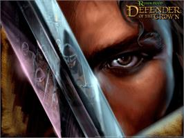 Title screen of Robin Hood: Defender of the Crown on the Microsoft Xbox.