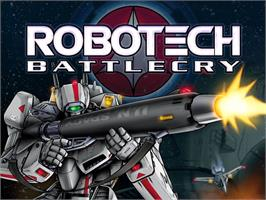 Title screen of Robotech: Battlecry on the Microsoft Xbox.