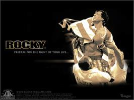 Title screen of Rocky on the Microsoft Xbox.